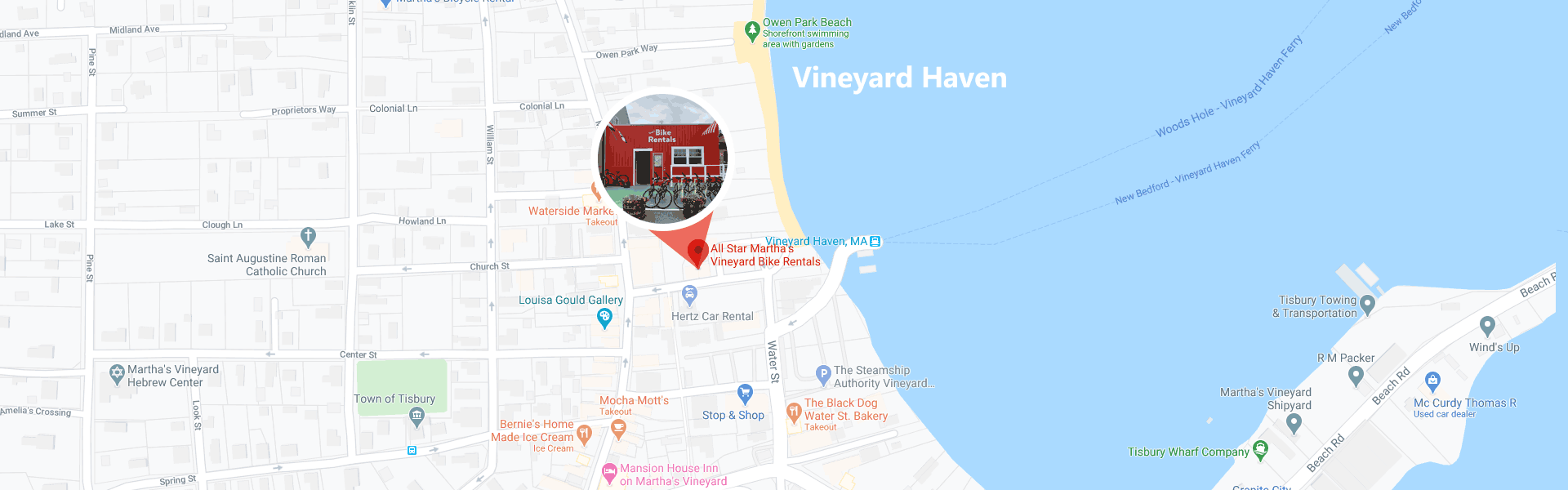 bike shop vineyard haven location